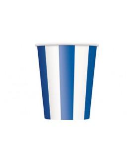 כוסות פסים כחול לבן