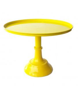 סטנד מתכת לעוגה- צהוב קטן
