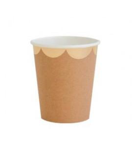 כוסות נייר קראפט שוליים זהב