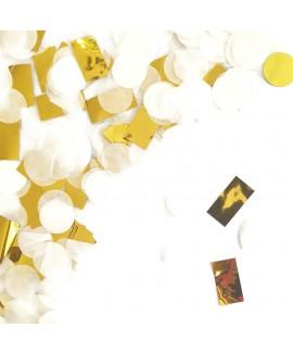 קונפטי נייר - זהב לבן