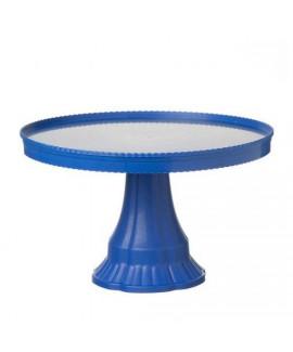 מגש פלסטיק כחול על רגל
