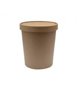 כוס מתכלה גדולה עם מכסה