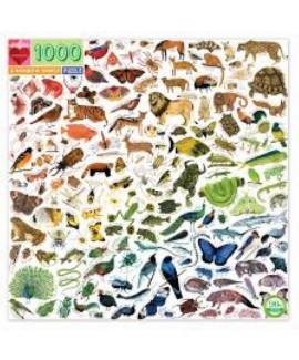 פאזל חיות בצבעי הקשת- 1000 חלקים