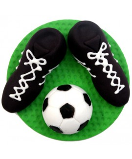 קישוט בצק סוכר - נעלי כדורגל