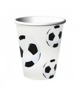 כוסות נייר כדורגל- 8 יחידות
