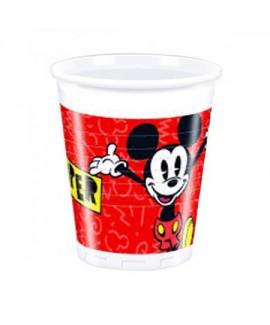 8 כוסות פלסטיק מיקי מאוס