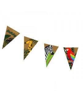 שרשרת דגלוני ספארי happy birthday