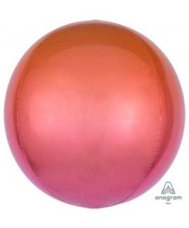 בלון הליום כדור אומברה אדום כתום