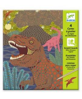יצירה-חריטה-דינוזאורים