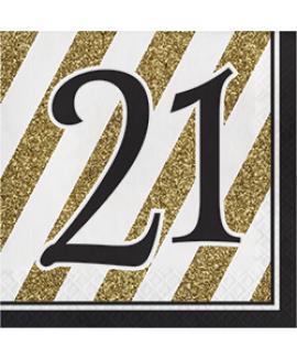 מפיות גיל 21 שחור זהב