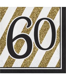 מפיות גיל 60 שחור זהב