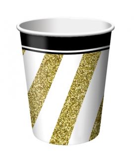 כוסות שחור&זהב