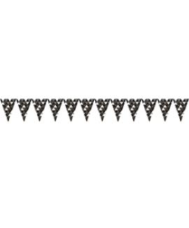 שרשרת דגלונים שחור לבן