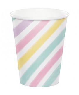 כוסות צבעי פסטל