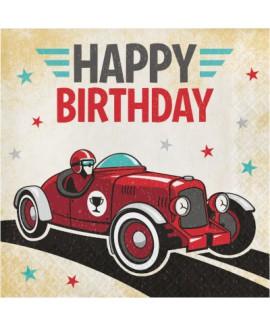 מפיות happy birthday  מכונית
