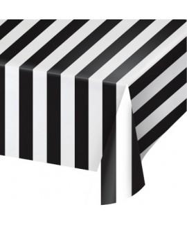 מפת פסים עבים שחור לבן