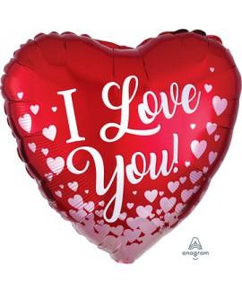 בלון I LOVE YOU אדום