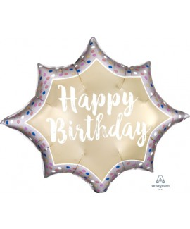 בלון הליום Happy Birthday מחודד
