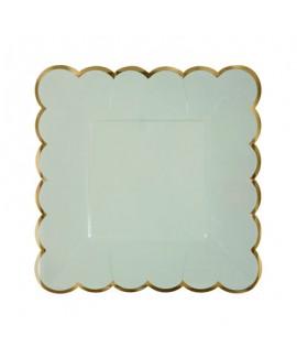 צלחות קטנות גווני פסטל 4 צבעים- meri meri