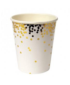 כוסות ריבועי זהב- Meri Meri