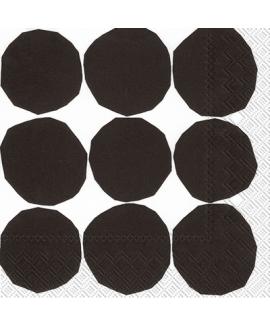 מפיות עיגולים שחורים רקע לבן