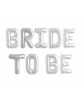 בלון כסף BRIDE TO BE- לניפוח עצמי