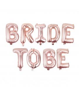 בלון רוז גולד BRIDE TO BE- לניפוח עצמי