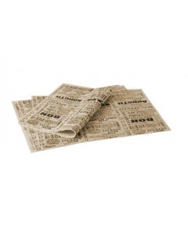 מארז נייר פרגמנט חום מודפס