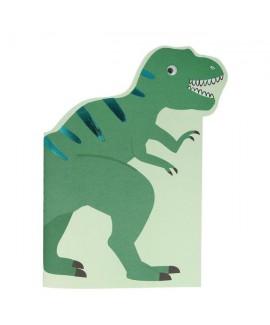 חוברת ציור ומדבקות בצורת דינוזאור - meri meri