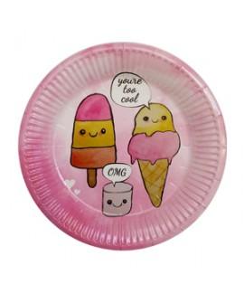 צלחות גלידות קטנות