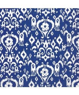 מפיות כחול נייבי עם עיטורים לבנים