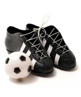 קישוט עוגה זוג נעליים+כדורגל