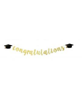 שרשרת Congratulations-  זהב גליטר