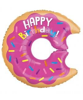 בלון דונאט Happy Birthday