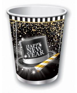כוסות נייר  Happy New Year.
