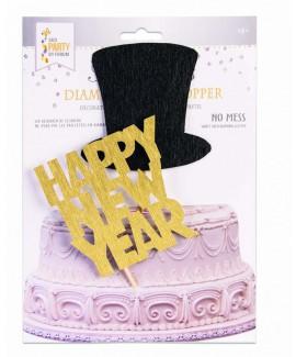 קייק טופר Happy New Year זהב