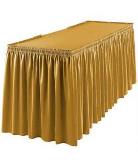 חצאית לעיטור שולחן זהב