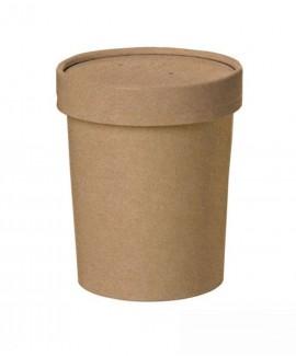 כוס קראפט חומה עם מכסה