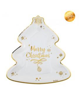 צלחות merry christmas