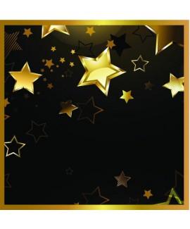 מפיות שחורות עם כוכבים בזהב