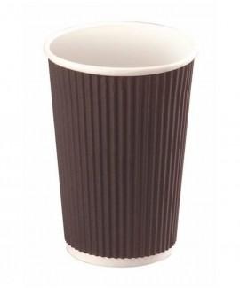 כוס קרטון שחורה בינונית מתכלה