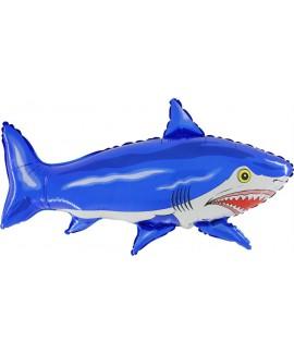 בלון הליום כריש כחול