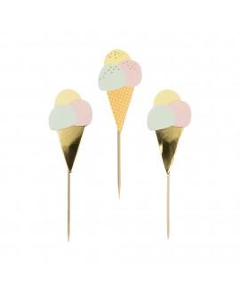 קיסמי נייר בצורת גלידה
