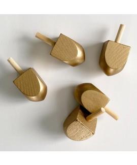 5 סביבוני עץ בזהב