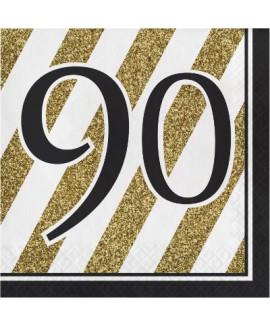מפיות גיל 90 שחור זהב