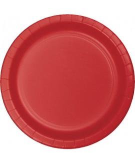 צלחות נייר גדולות אדום