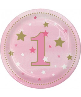 צלחות יום הולדת שנה - בת