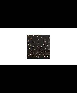מפיות קוקטייל שחורות עם כוכבי זהב