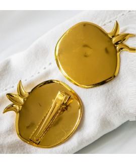חבק קליפס רימון זהב