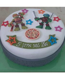 עוגת יום הולדת צבי הנינג'ה